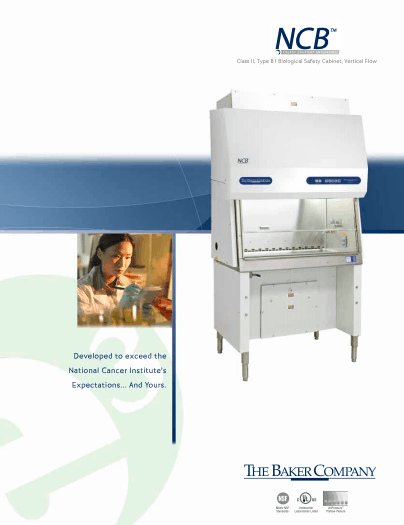 Thumbnail NCBTM e3 - Class II Type B1 Biological Safety Cabinets